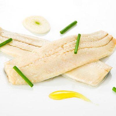 Lomos de sardina al vinagre con aceite de oliva
